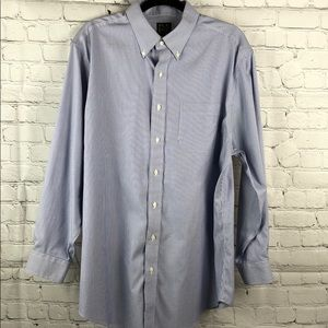 JoS. A. Bank men's blue & white button down shirt